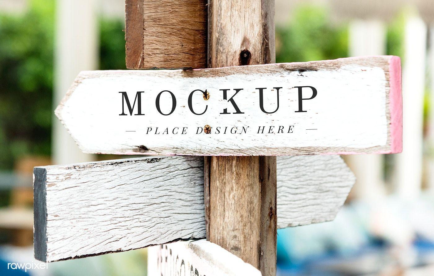 Freemockup Mockup Graphicsdesign Wooden Signage Wooden Street Arrow Signs