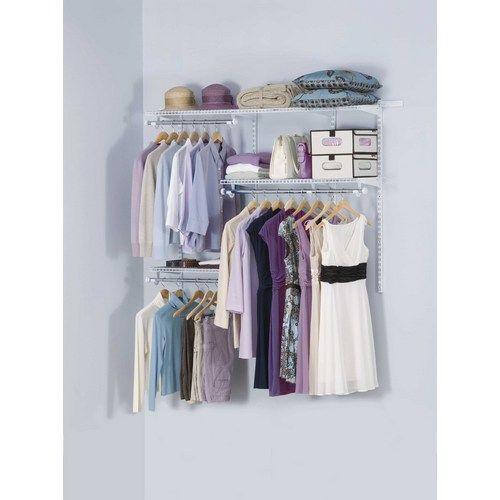 Zoomed: Rubbermaid 3u0027 6u0027 Custom Closet Kit