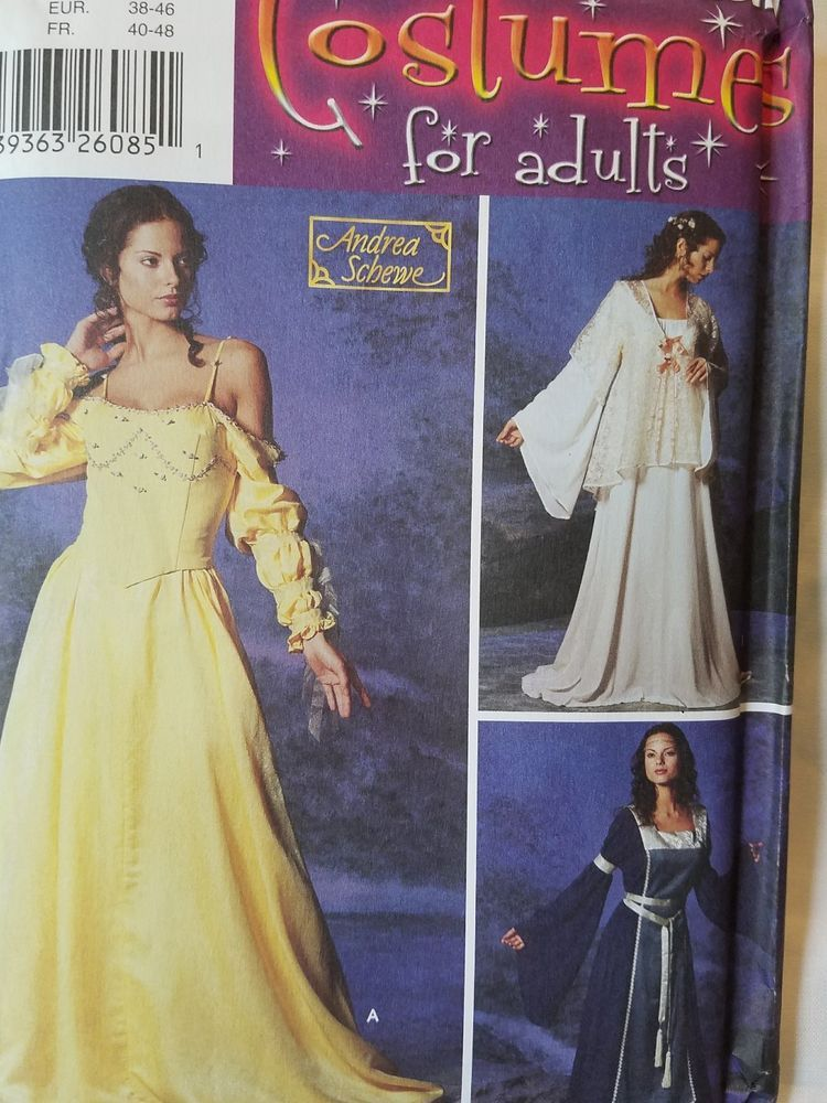 Simplicity Costumes Pattern 5843~ Misses\' Medieval Gowns (12-14-16 ...