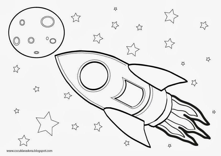 Rocket çocuklar Aşkına Roket Boyama Ve Roket Temalı Doğum Günü