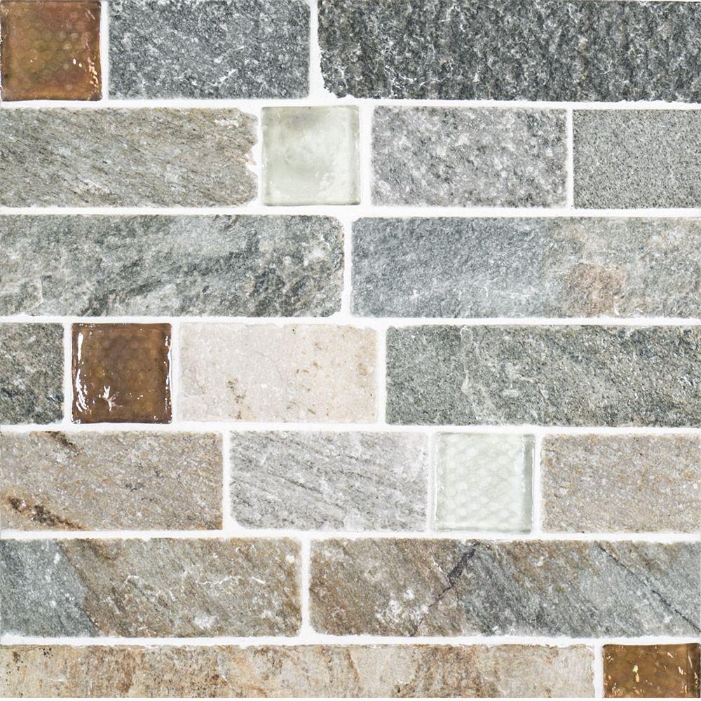 Fire Ice Brick 10 5 X 11 75 Rustic Quartzite In 2019