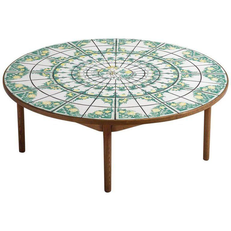 Bjorn Wiinblad Ceramic Tile Coffee Table Ca 1970 S 1stdibs