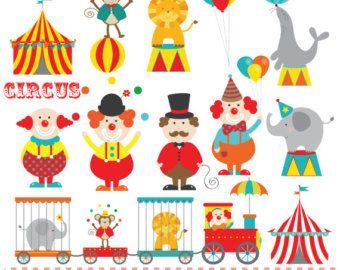Tren circo etiquetas lindo gráfico Digital OK por JWIllustrations Más  sc 1 st  Pinterest & Tren circo etiquetas lindo gráfico Digital OK por JWIllustrations ...