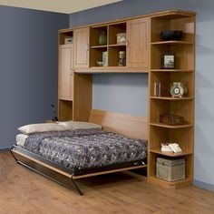 Side-Tilt Queen Murphy Bed -- Open | Queen murphy bed, Murphy bed ...