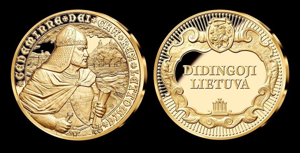 """2014 m. - """"Karalius Gediminas"""" - antrasis medalis iš kolekcijos """"Didingoji Lietuva""""."""