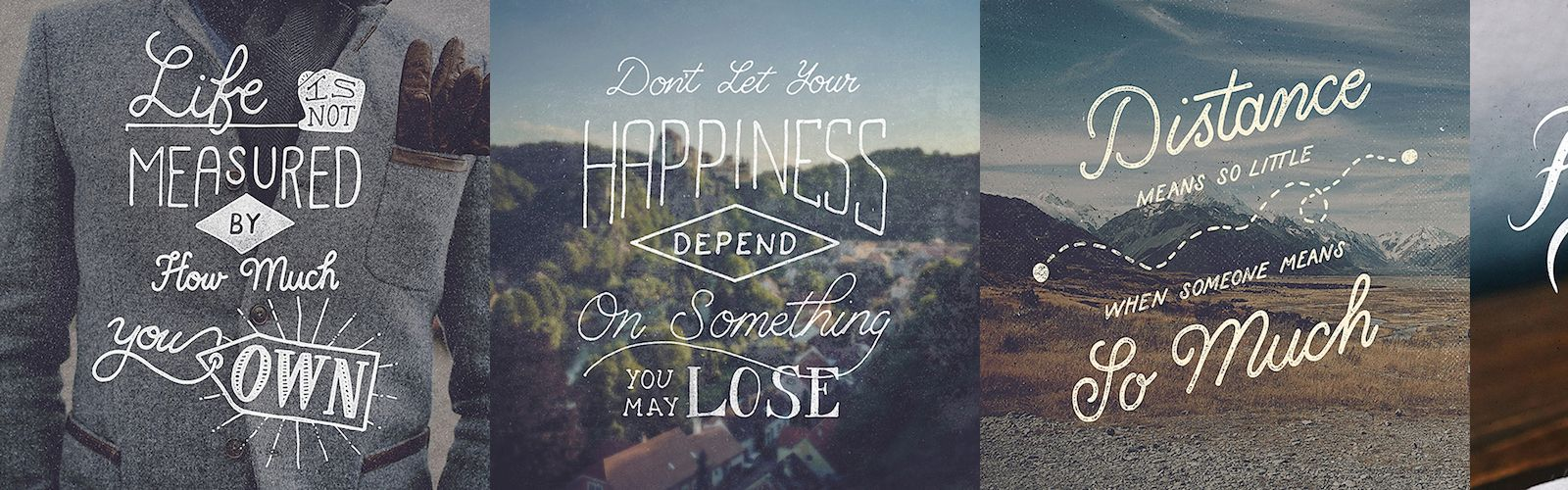 Hand Lettering Typography of Life's Quotes & Sayings by Ian Barnard (14 Pictures)
