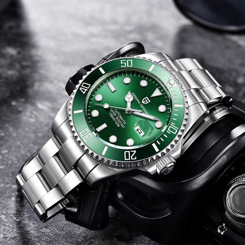 Pagani Design Brand Luxury Men Watches Etsy Green Watch Men Watches For Men Mens Watches Black