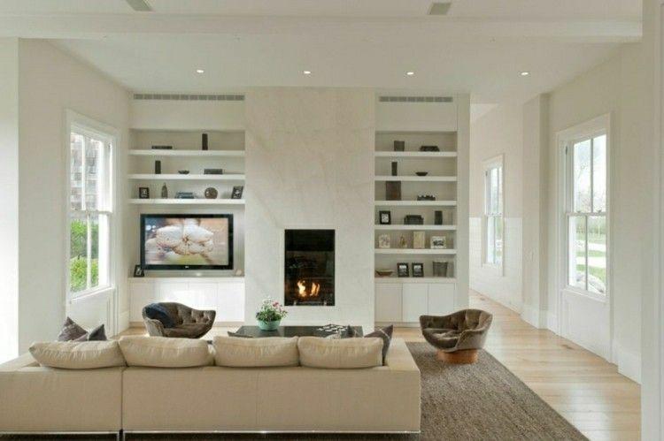 Chimeneas modernas calor y estilo para el salón | Muebles de colores ...