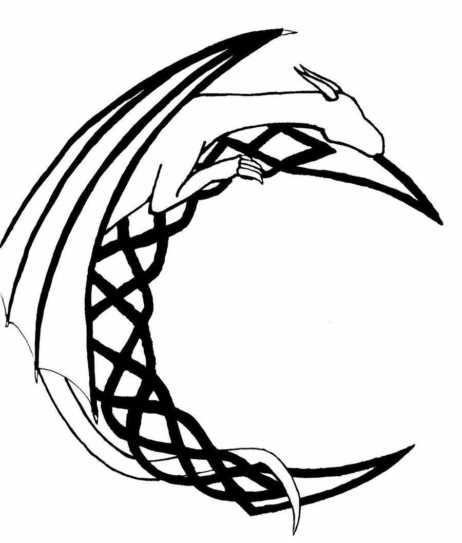 dragon tattoo outline Dragon tattoo outline, Tattoo