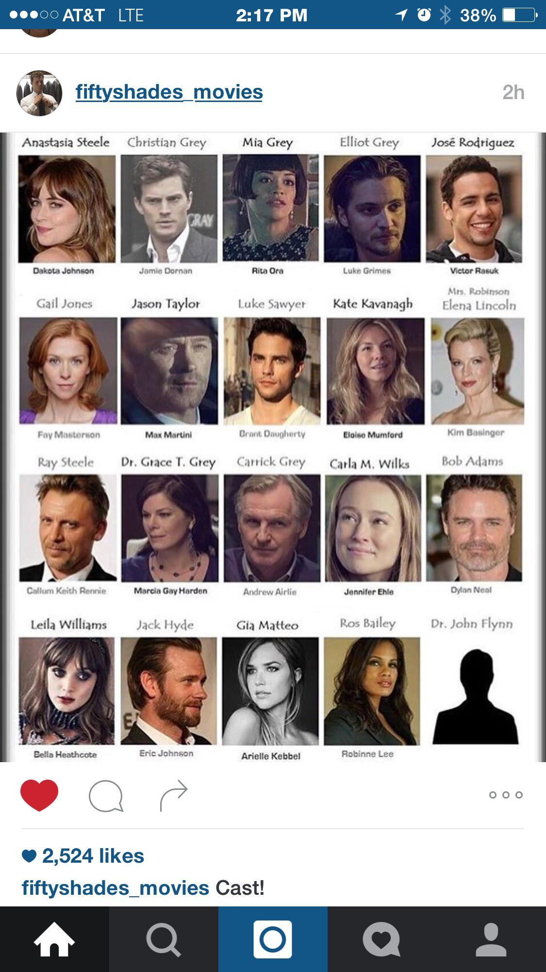Fifty Shades Darker Cast Luke Grimes Christian Grey Fifty Shades