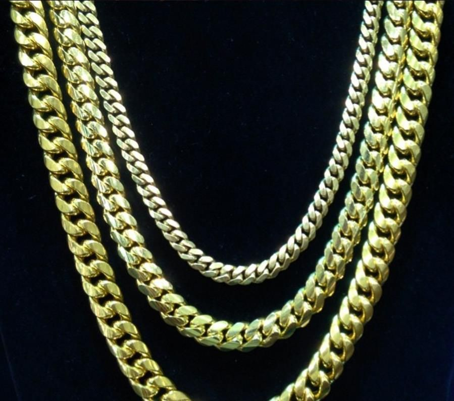 f37d10e34485a 24K Gold Plated Fabulous Chunky Heavy Solid Miami Cuban Link Chain ...