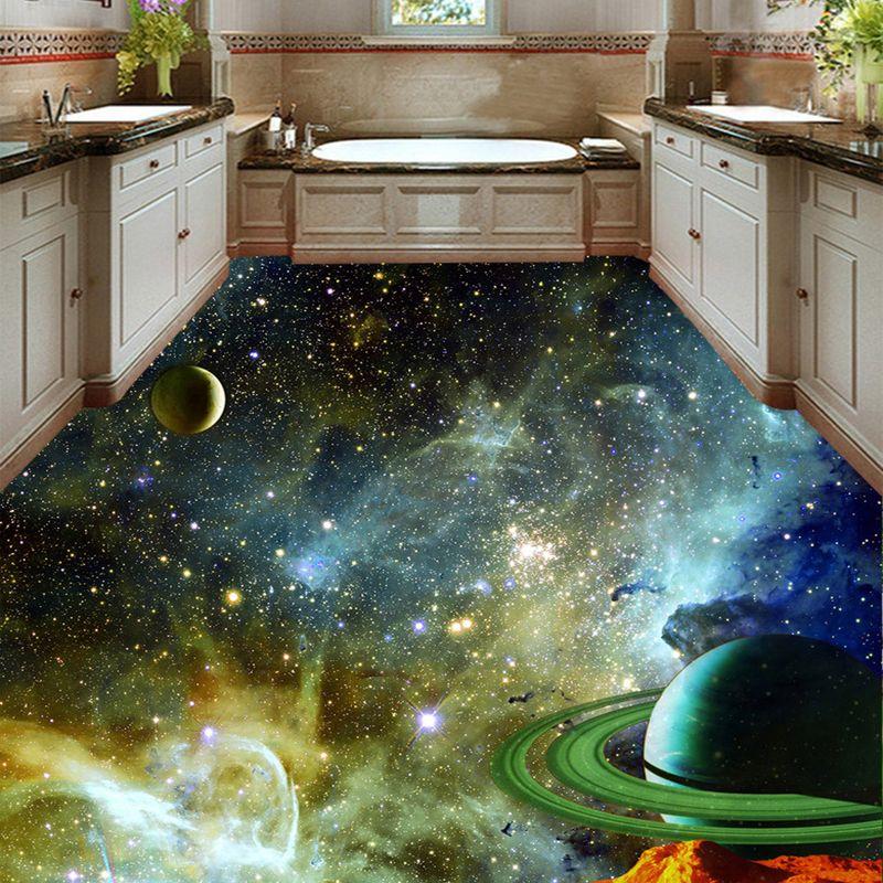 Space murals for 3d bathroom flooring 3d floors for Awesome bathroom 3d floor designs