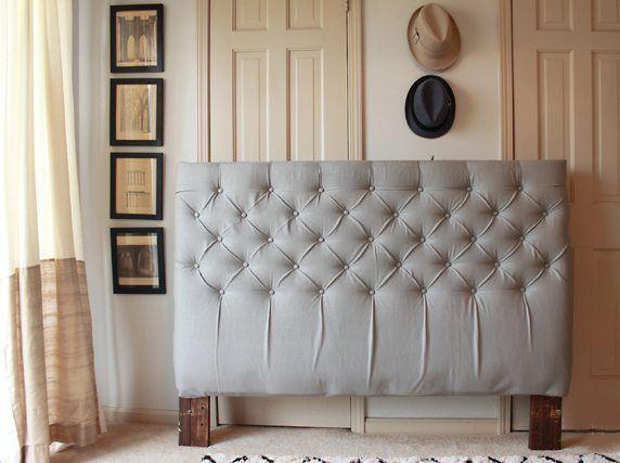 DIY: Cómo hacer cabeceros de cama con tapizado capitoné | Cabecero ...