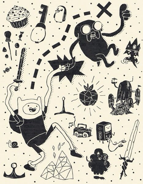 Adventure Time Wallpaper Black