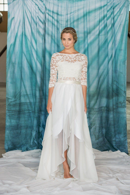 10 Beautiful Two-Piece Wedding Dresses | Pinterest | Wedding dress ...