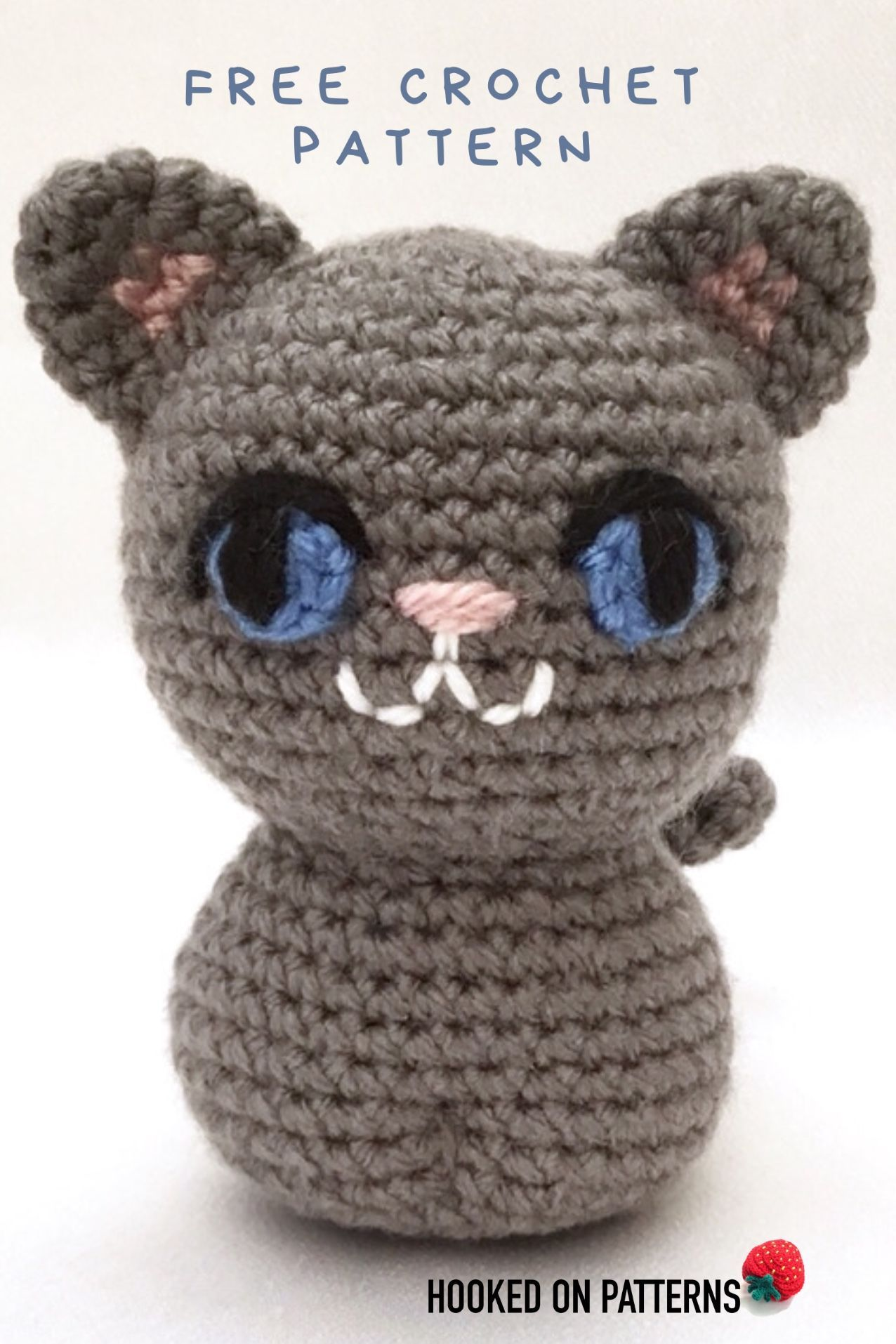 Simple Free Crochet Cat Pattern - Hooked On Patterns   1914x1276