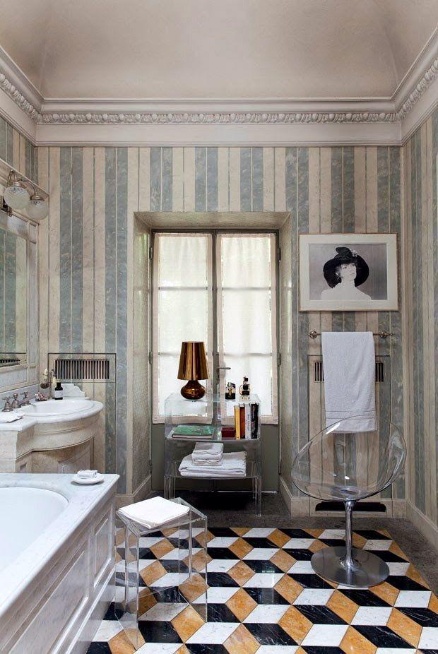 the bathroom in the milanese home of claudio luti president of kartell bathroom bathroom. Black Bedroom Furniture Sets. Home Design Ideas