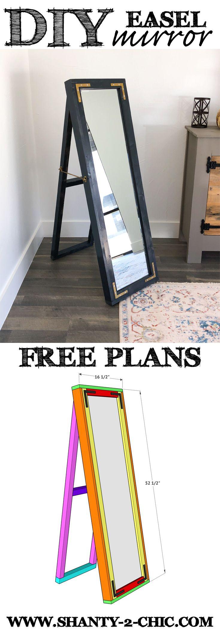 Diy Easel Mirror Diy Easel Diy Furniture Projects Diy Home Furniture