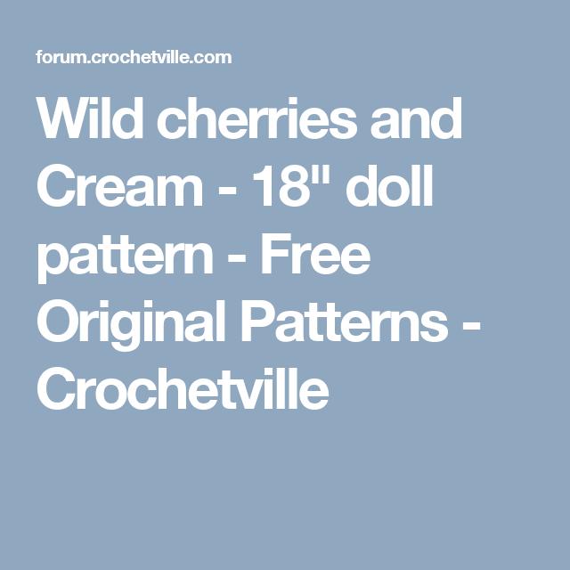 Wild Cherries And Cream 18 Doll Pattern Free Original Patterns