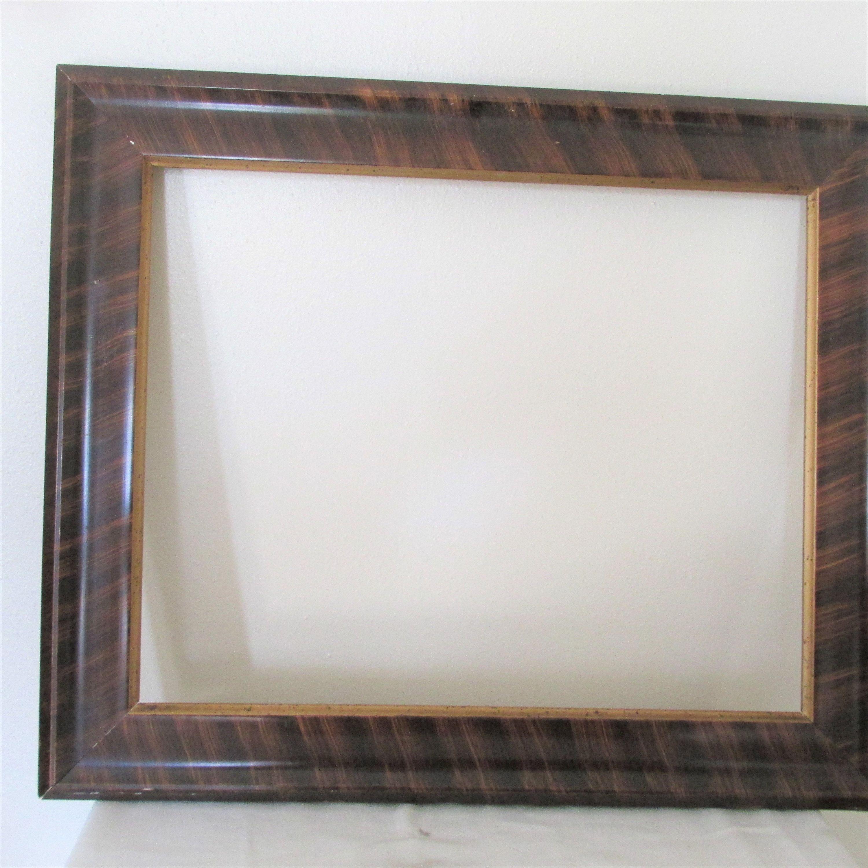 Picture Frame Wood Tiger Stripe Vintage 16 X 20 Image Size No Glass In 2020 Picture Frames Wood Frame Frame
