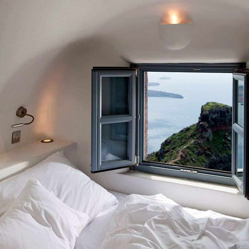 Amazing Window View From A Cozy Room Photography Beach Room Beautiful  Bedroom Ocean Travel Bed Amazing