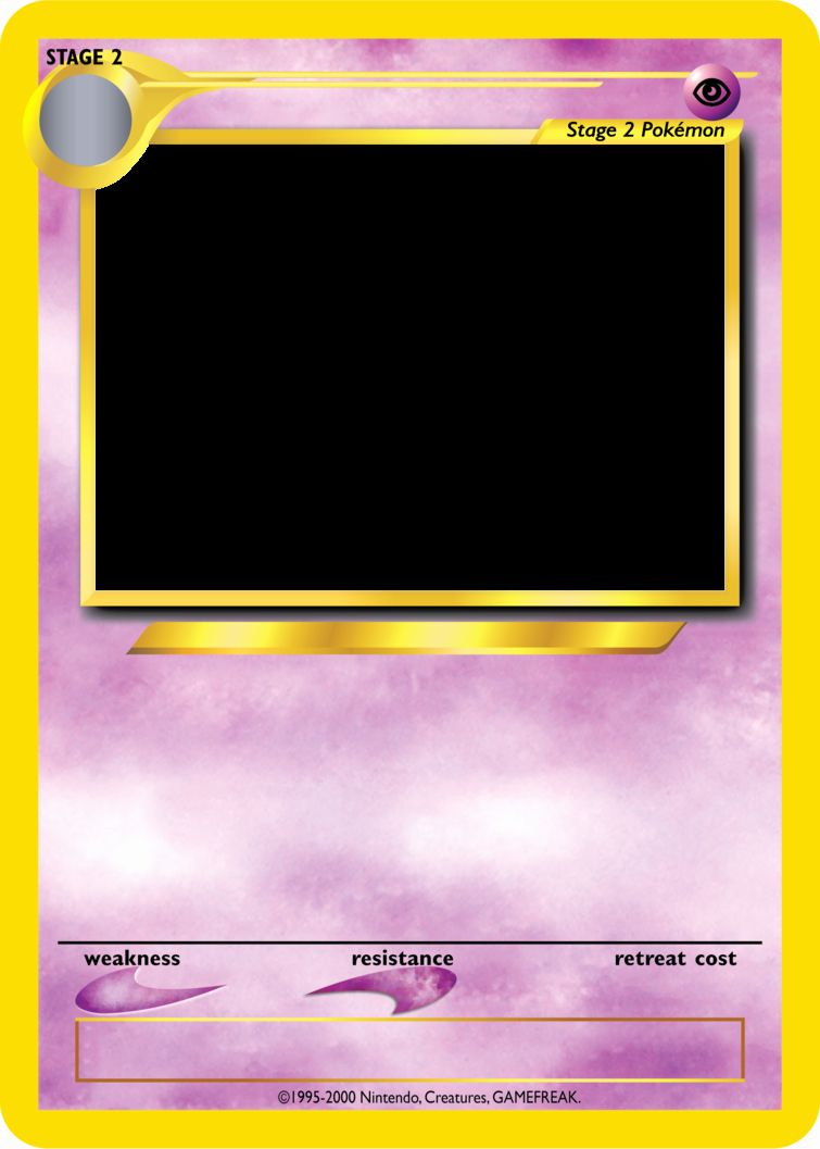 Blank Trading Card Template Beautiful Pokemon Tcg Blanks Neo Jumbo Stage 2 By Icycatelf On Pokemon Trainer Card Trading Card Template Pokemon Card Template