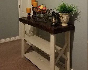 Farmhouse Foyer Table Decor : Wood pallet table sofa console by wickerhillworkshop