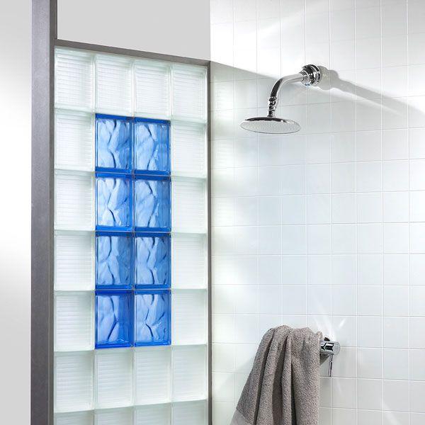 la brique de verre dans la salle de bains - Mur De Verre Salle De Bain