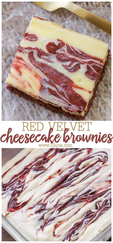 Red Velvet Cheesecake Brownies   Lil' Luna #redvelvetcheesecake