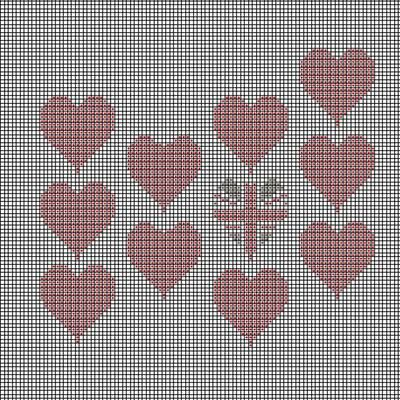 Multi Heart Tapestry Chart (Download)