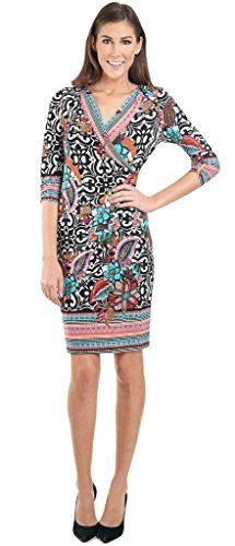 687e45354df Joseph Ribkoff Multicoloured Floral V-Neck Wrap Dress Style 161686 ...