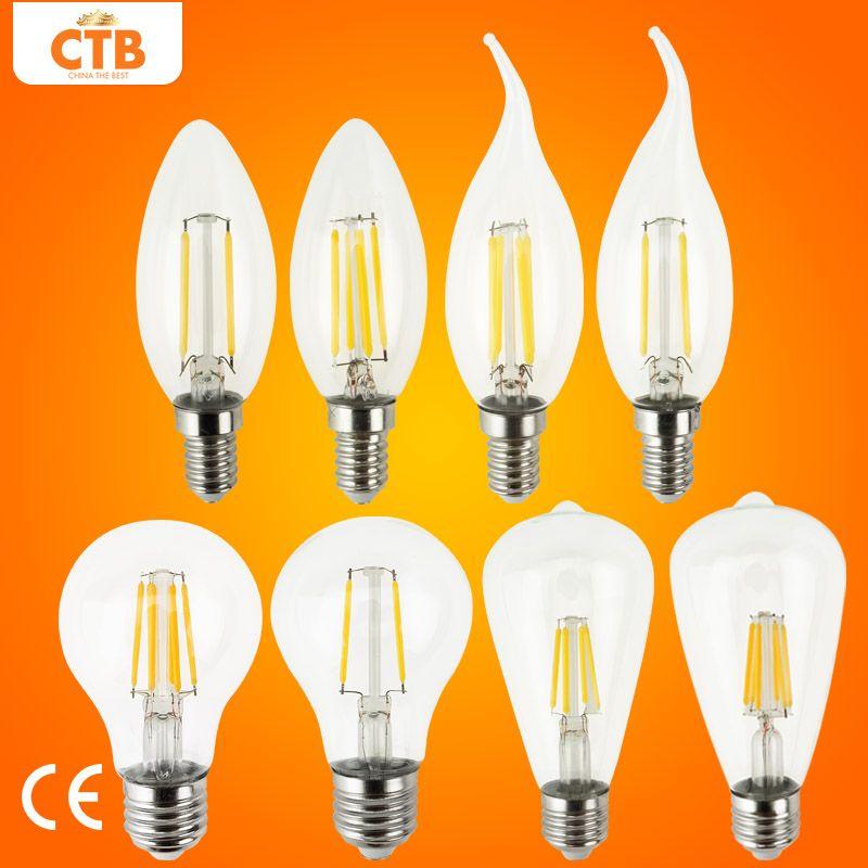 Led Lampe E27 Retro Lampen 220 V 240 V Led Filament Licht E14