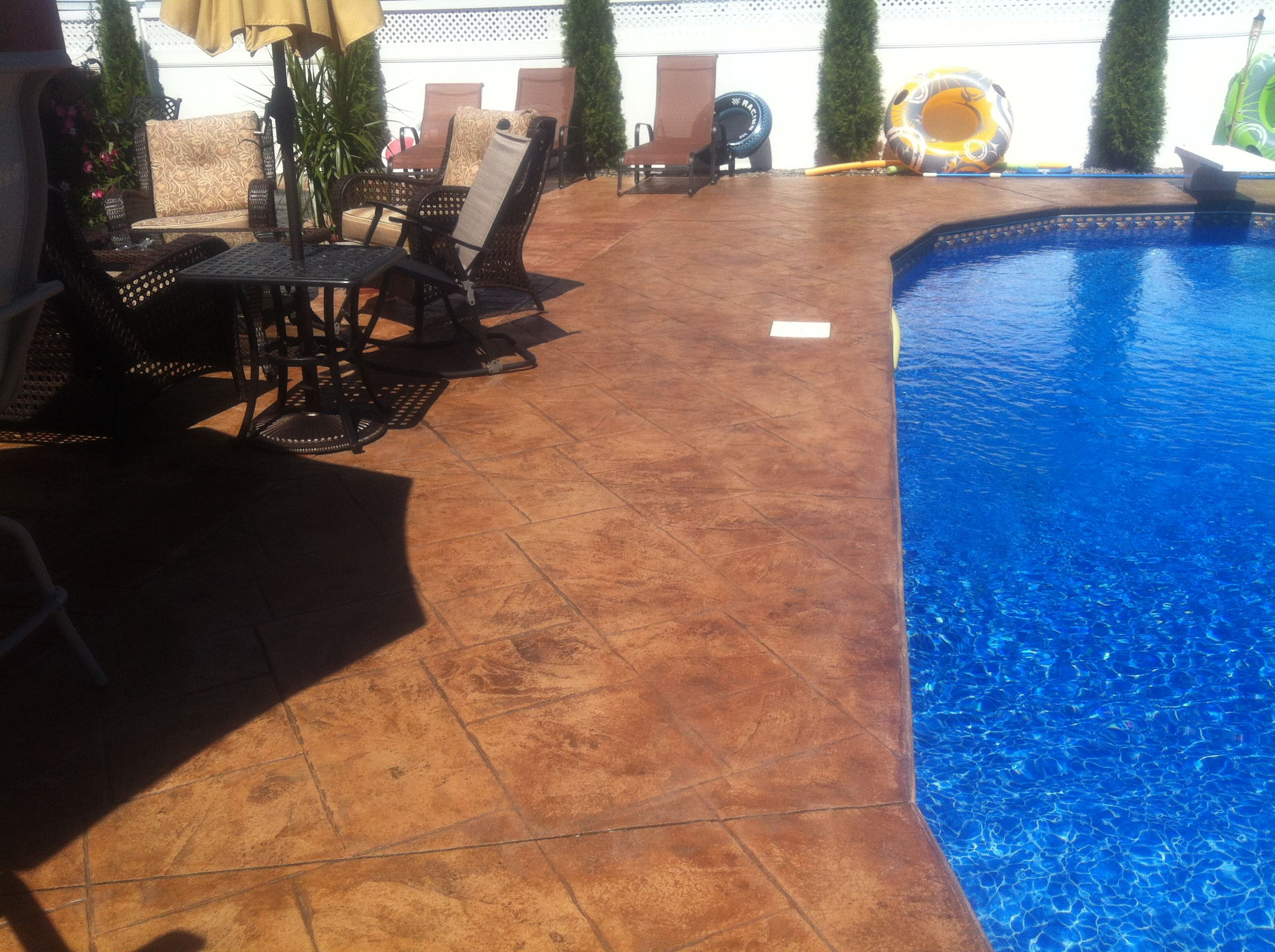 Stamped Concrete Pool Deck Nj Wwwparadisestonenjcom