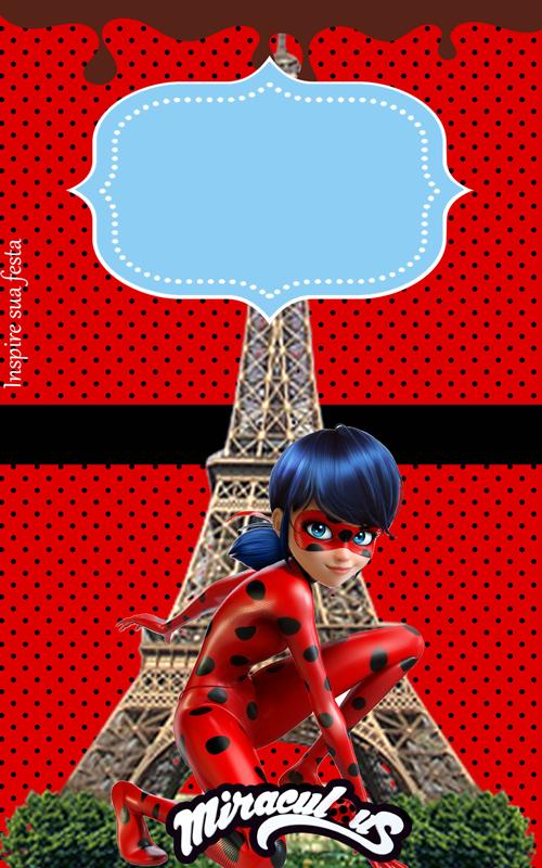 Miraculous Ladybug Kit Digital Gratuito Invitaciones De