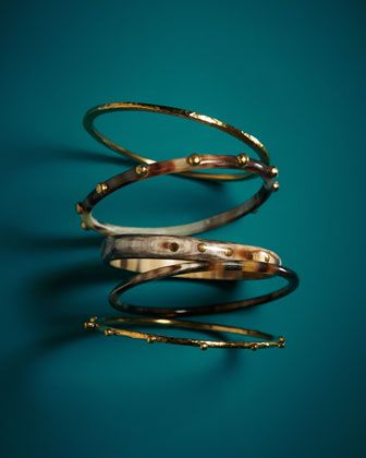 Exclusive JJW Bronze & Horn Bangle Set  by Ashley Pittman at Neiman Marcus