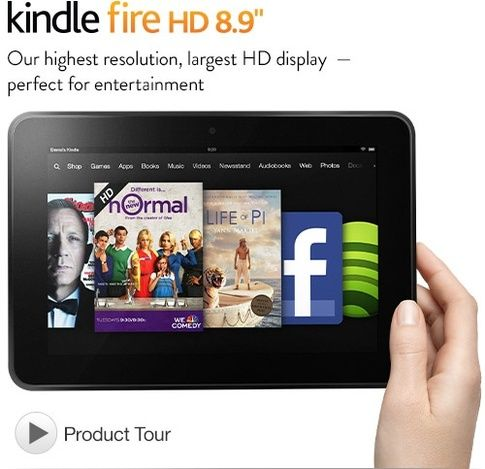 """Kindle Fire HD 8.9"""" Tablet"""