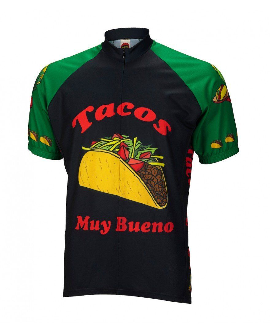 World Jerseys Taco Tuesday Men/'s Cycling Jersey