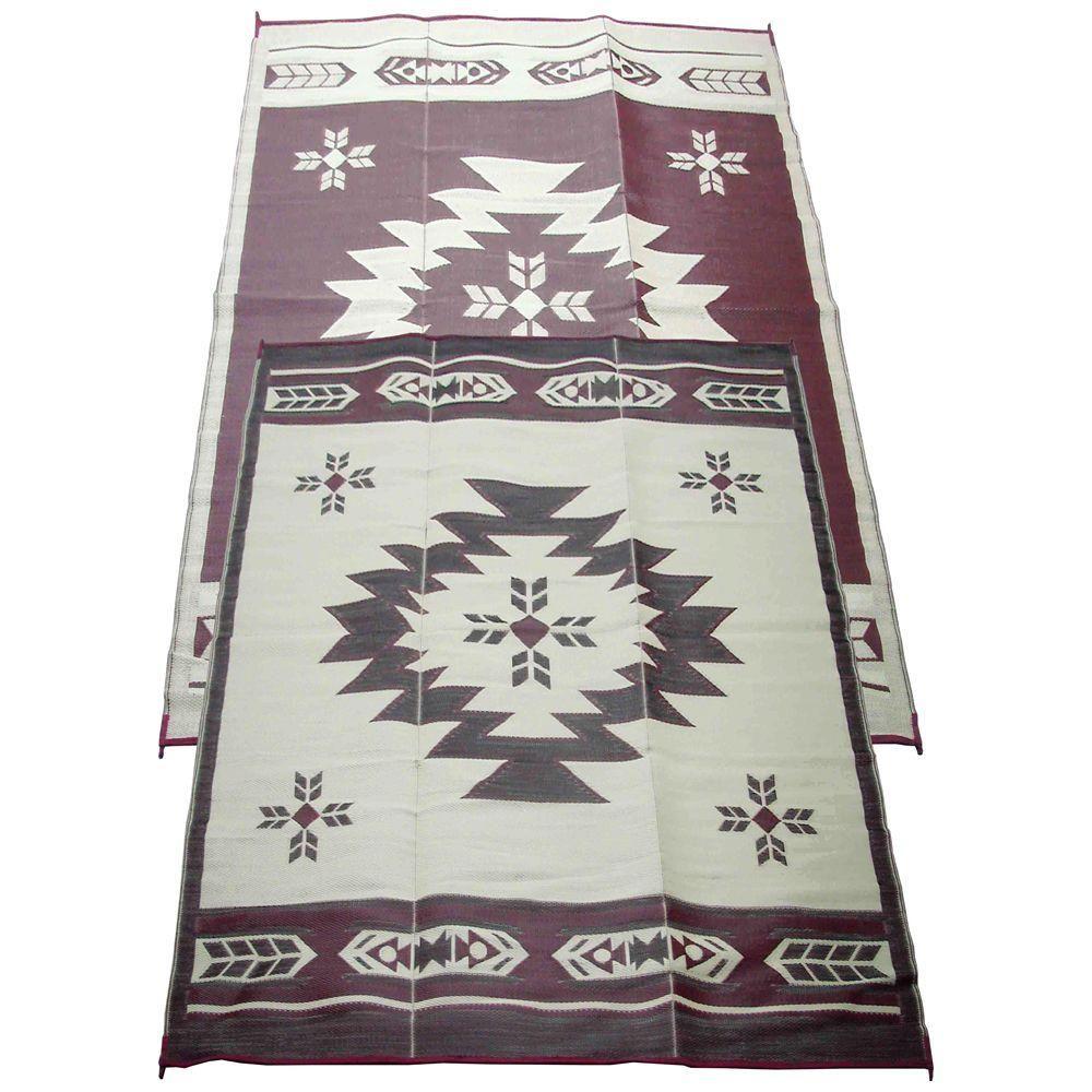 Navajo breeze burgundybeige ft x ft indooroutdoor reversible