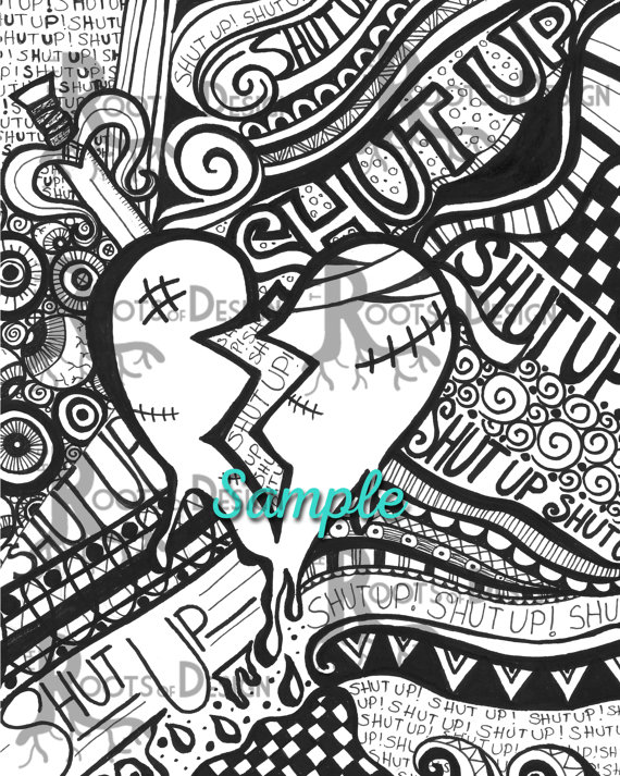 Anti-love/ Anti-Valentine Coloring Page Bundle Instant ...