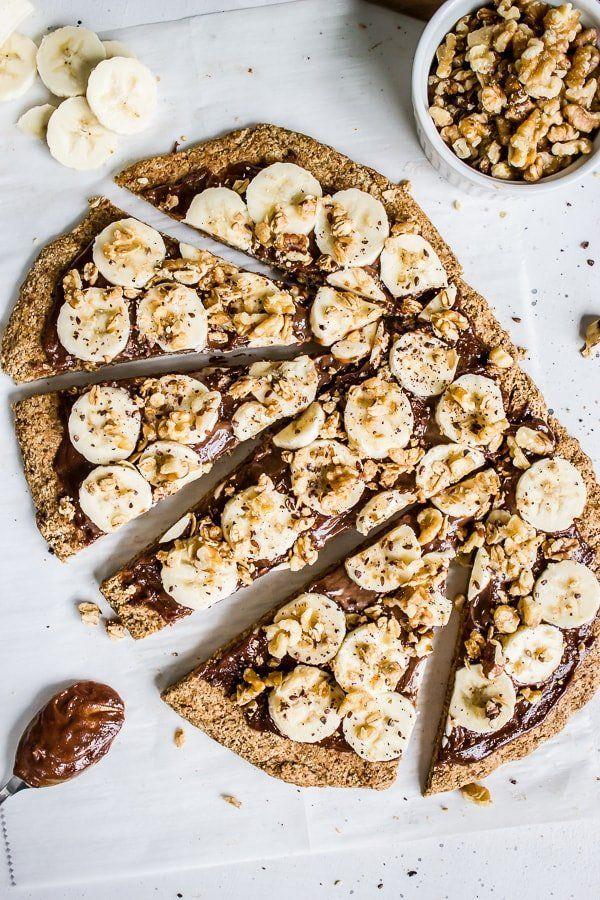 Banana Bread Breakfast Pizza