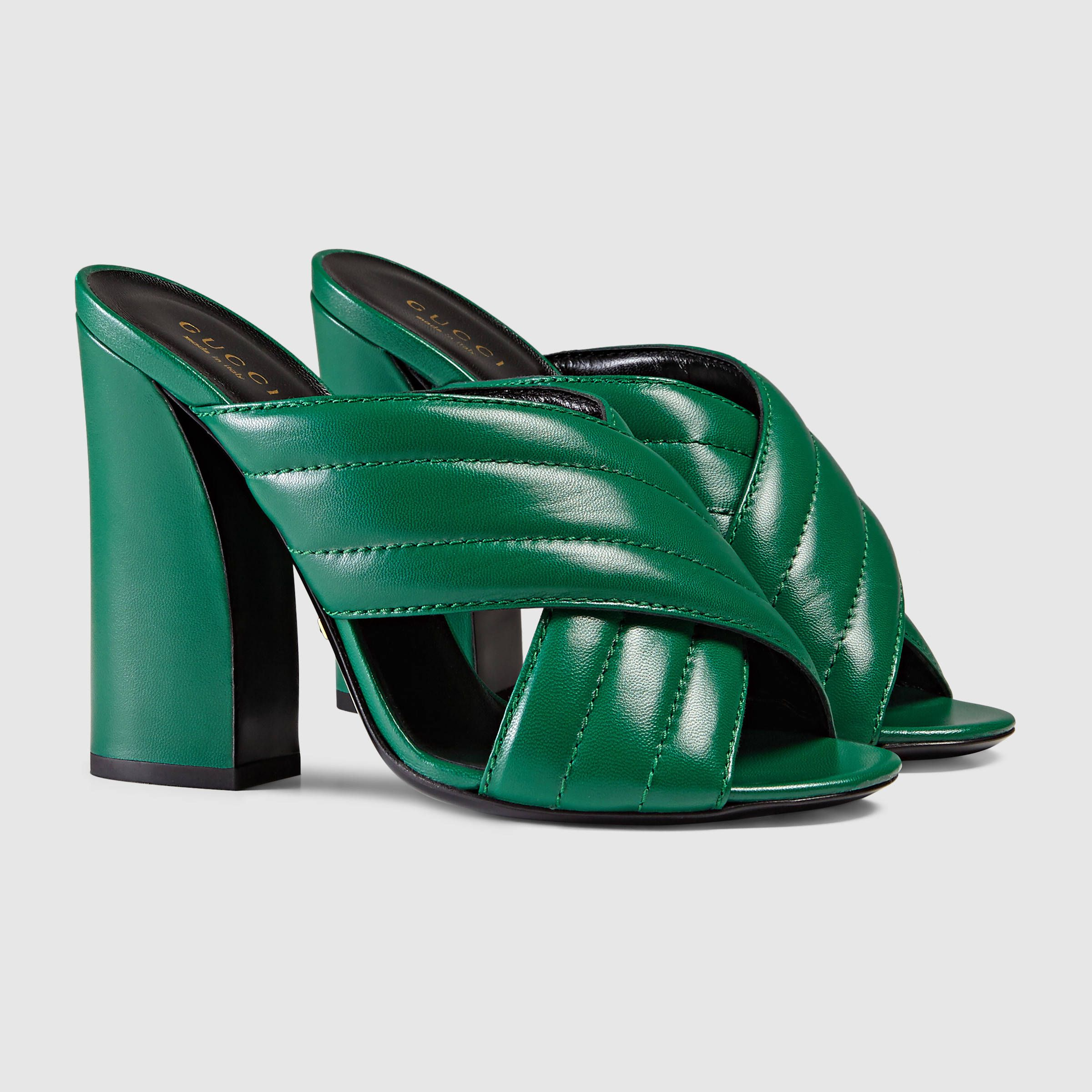 cf2a9655cb4a Gucci Women - Leather crossover sandal - 408306C9D003120