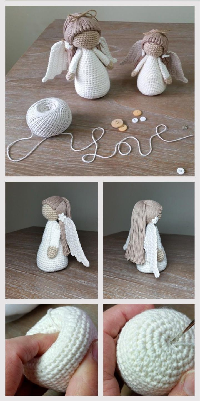 Amigurumi Doll Angel Tutorial | crochet angels | Pinterest | Tejido ...