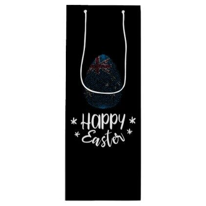 Happy easter and easter egg with australian flag wine gift bag happy easter and easter egg with australian flag wine gift bag australian flags negle Gallery