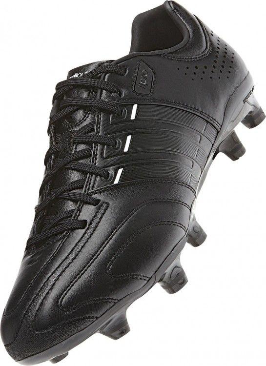 2d0b32935f0a8a Der Adidas adiPure 11pro TRX FG Fußballschuhe im komplett schwarzen Design. Adidas  Fußballschuhe aus feinem Leder