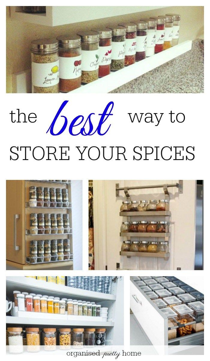 Herbs and spices organization and storage ideas! Thinking of organizing the kitchen, spices in a drawer would be a great idea! Now to decide on the spice jars.