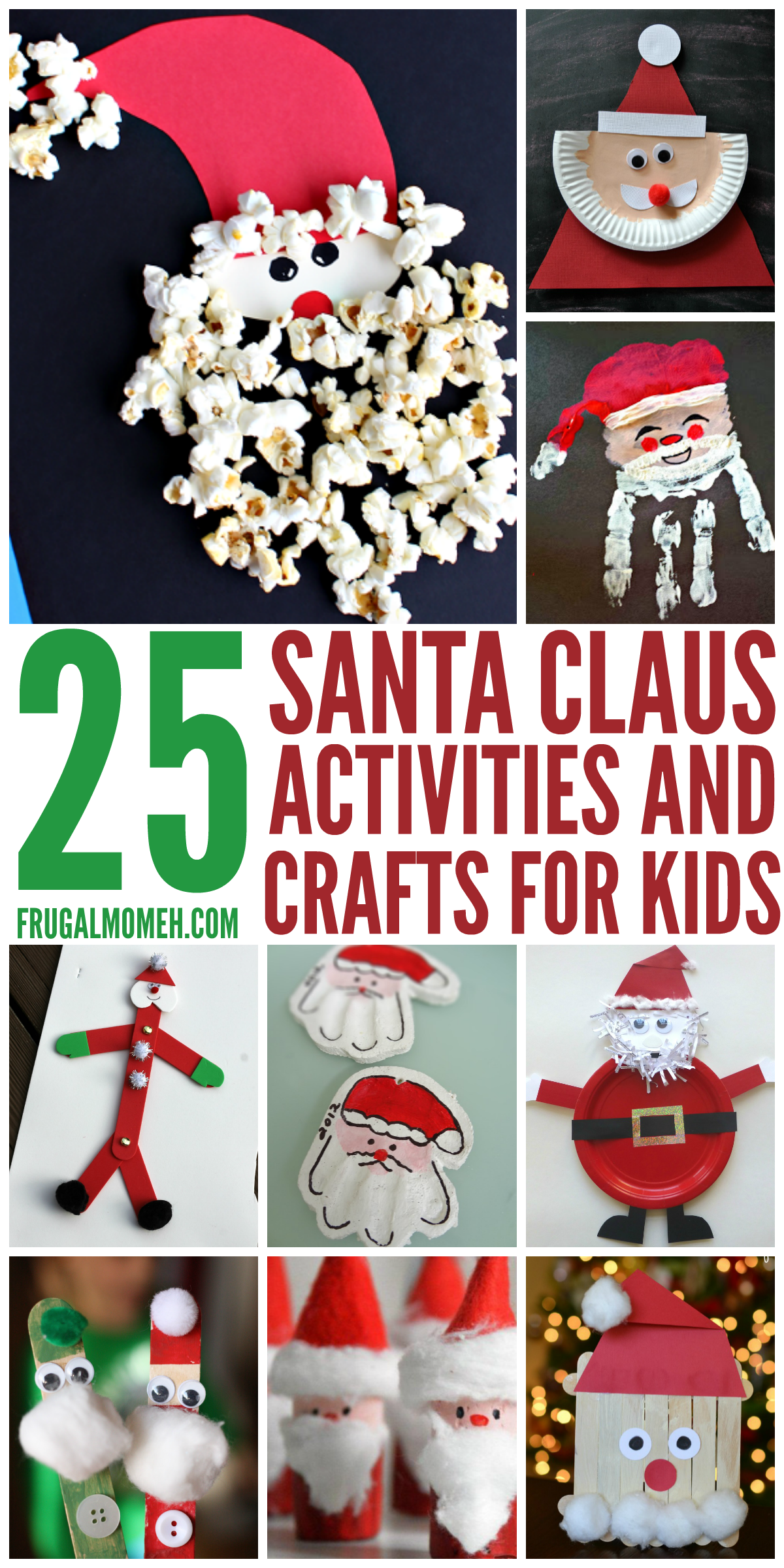 Santa Claus Crafts Amp Activities For Kids