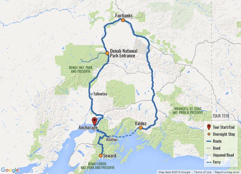Alaska Highlights Vacation Tour Alaska Car SelfDriving Tour