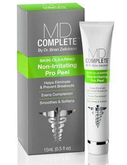 Md Complete Skin Clearing Non Irritating Pro Peel Gel Mask Clear Skin Clarifying Cleanser