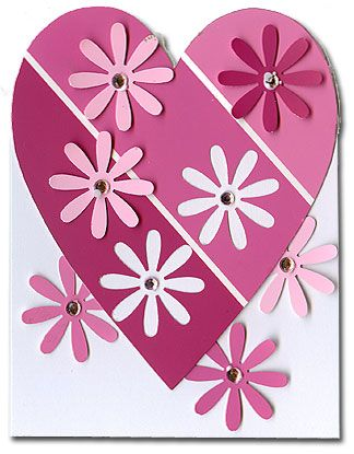 Use A Paint Sample Card And A Flower Punch To Create These Clever