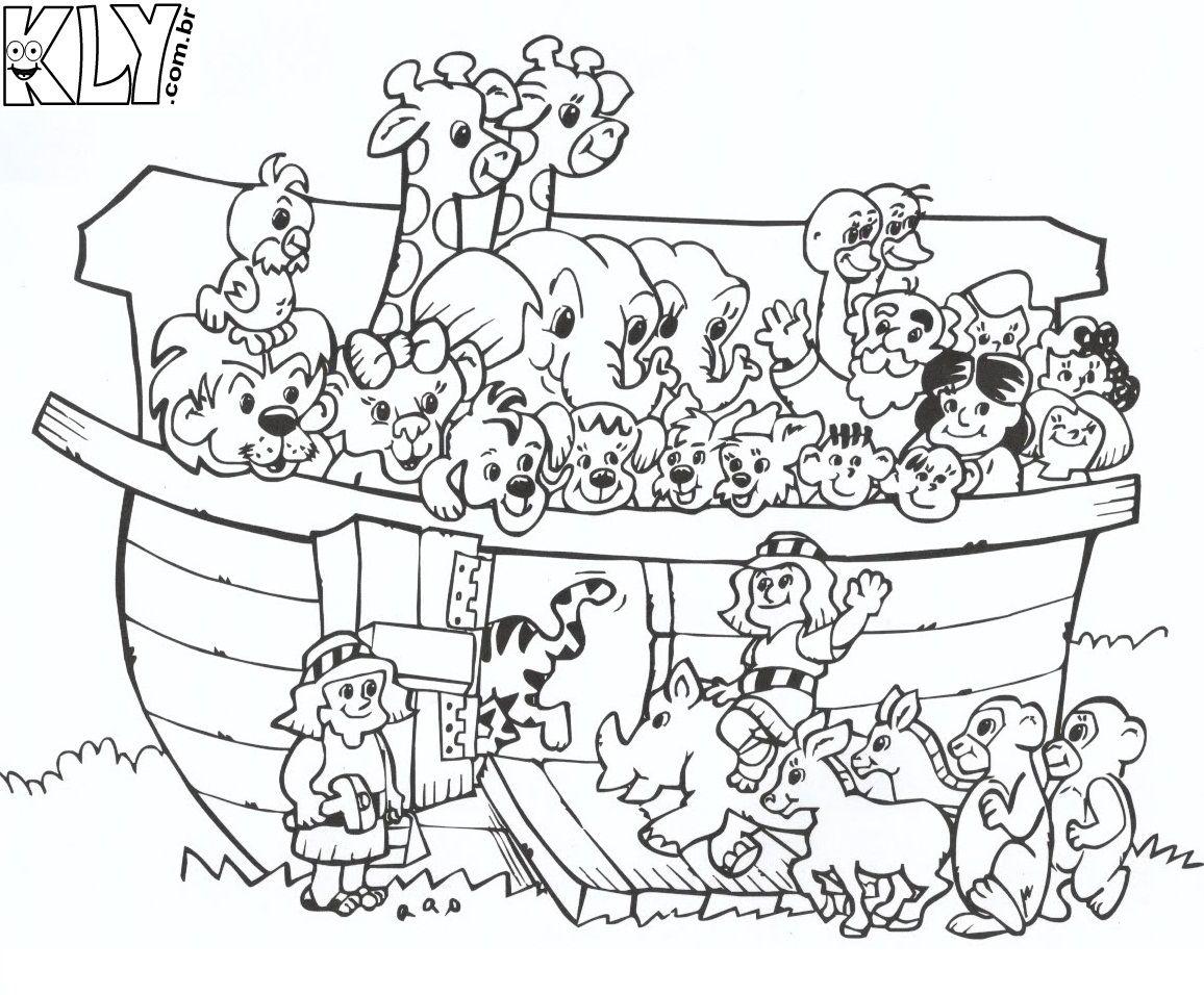dibujos del arca de noe | Dibujos para colorear del arca de noe ...
